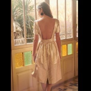 Sezane Odalie Gold Dress